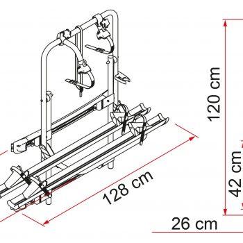 Carry Bike 200 DJ Sprinter Crafter 02093B93A dimensiones