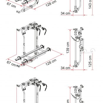 Carry Bike Ducato Frame desde 2006 02094 25A dimensiones