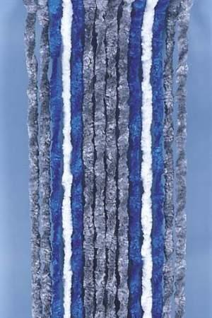 Cortina puerta 56x205 Gris Azul y Blanco Caravana Autocaravana 912441