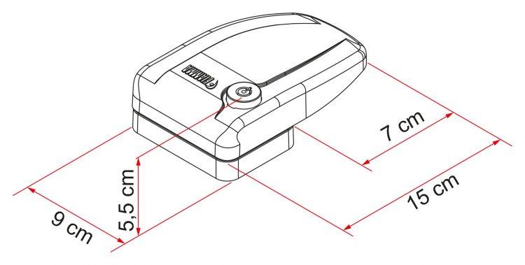 Kit 3 Safe Door Frame White 07705 01 dimensiones