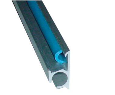 Rail guia aluminio 5m para toldo para autocaravanas y for Guia aluminio para toldo