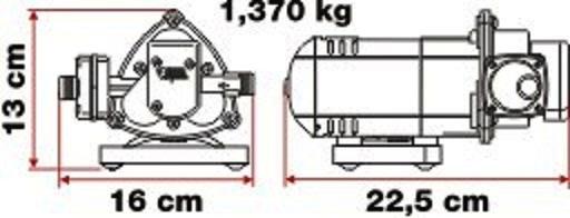 BOMBA AUTOMATICA AQUA8 10l. 12v.-2