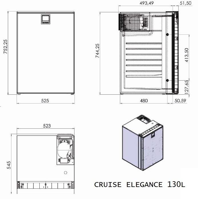 NEVERA COMPRESOR ISOTHERM CRUISE ELEGANCE 130 L 12-3