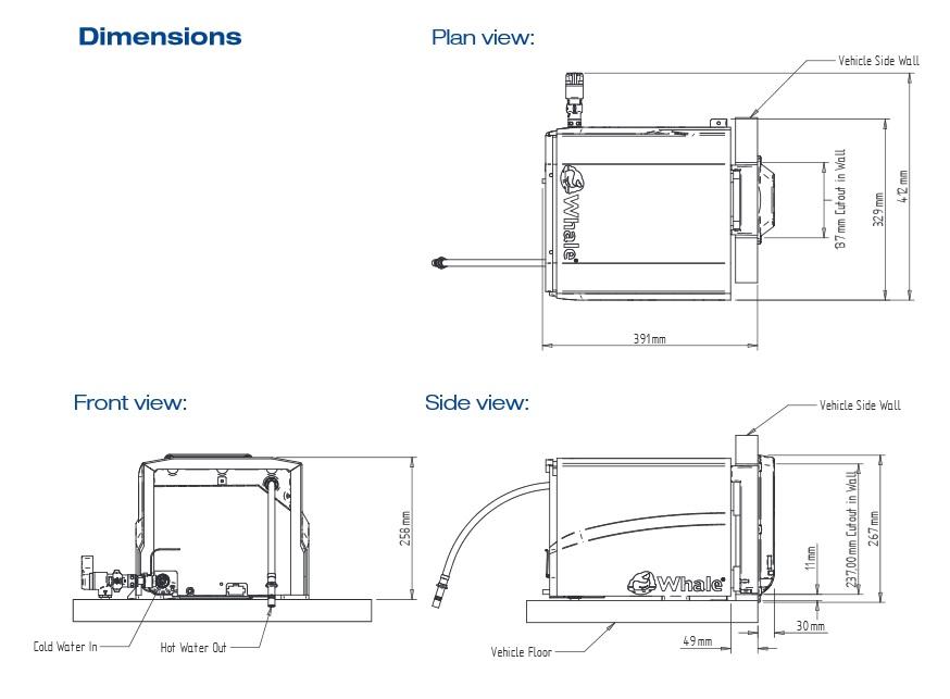 Calentador de agua interior Whale Gas Rapid Heat-3
