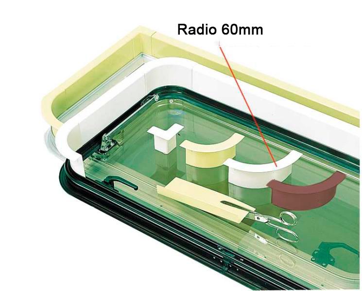 Perfil Embellecedor Ventana Gris 90º 60 mm Reimo