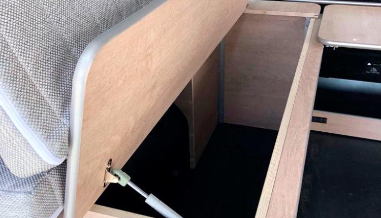 Arcón abierto kit cama desmontable Citroen space tourer masquecamper