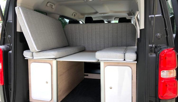 Mesa en mueble kit cama desmontable Citroen space tourer masquecamper
