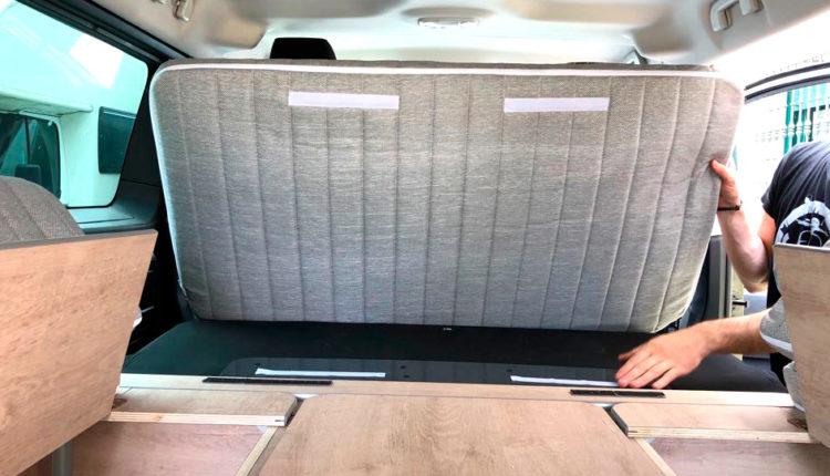 Mueble abierto kit cama desmontable Citroen space tourer masquecamper