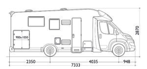 dimensiones interior autocaravana elnagh fiat baron 581 2019