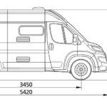 dimensiones interior furgoneta e van k2 elnagh fiat 019