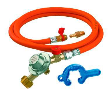 Juego de conexión con regulador de presión integra