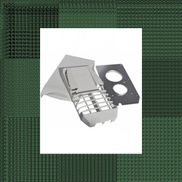 Kit Chimenea Blanca boiler Truma tapa 26 x 13 con rejilla chapa protectora y tornillos gas boiler chimenea calefaccion Truma 932653