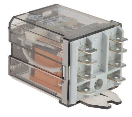 Rele sin enclavamiento Finder 62 Series DPDT bobina 230V ac Enchufable 245 2396 Dometic 9102900013