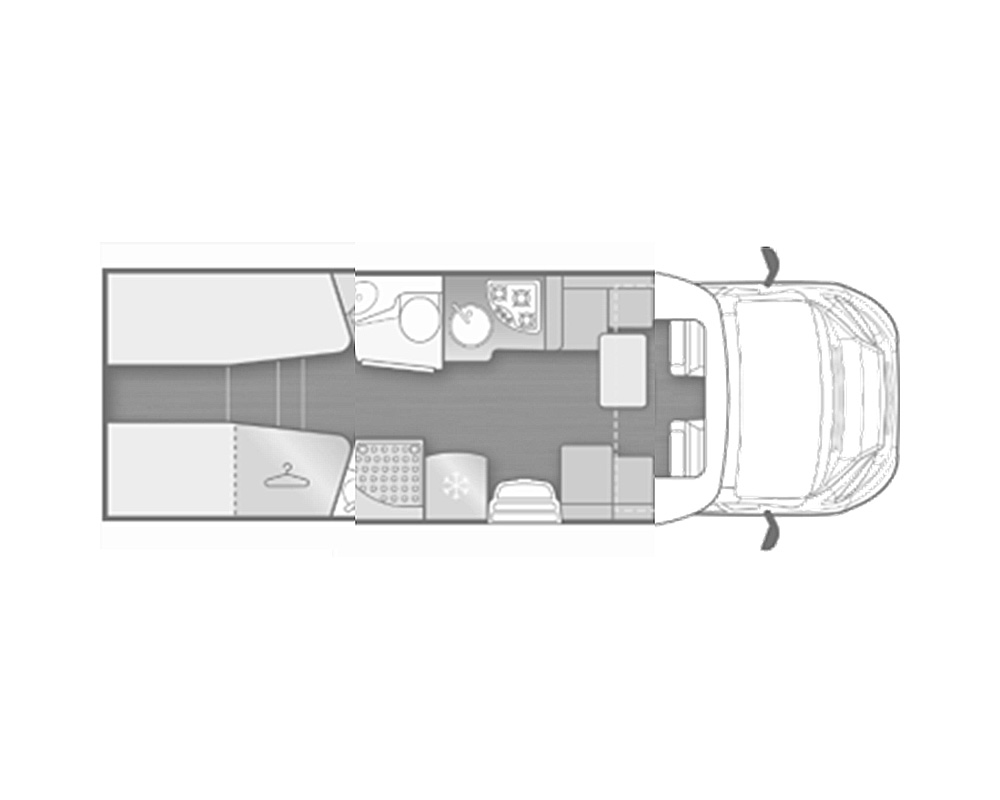 autocaravana mclouis mc4 370 distribucion