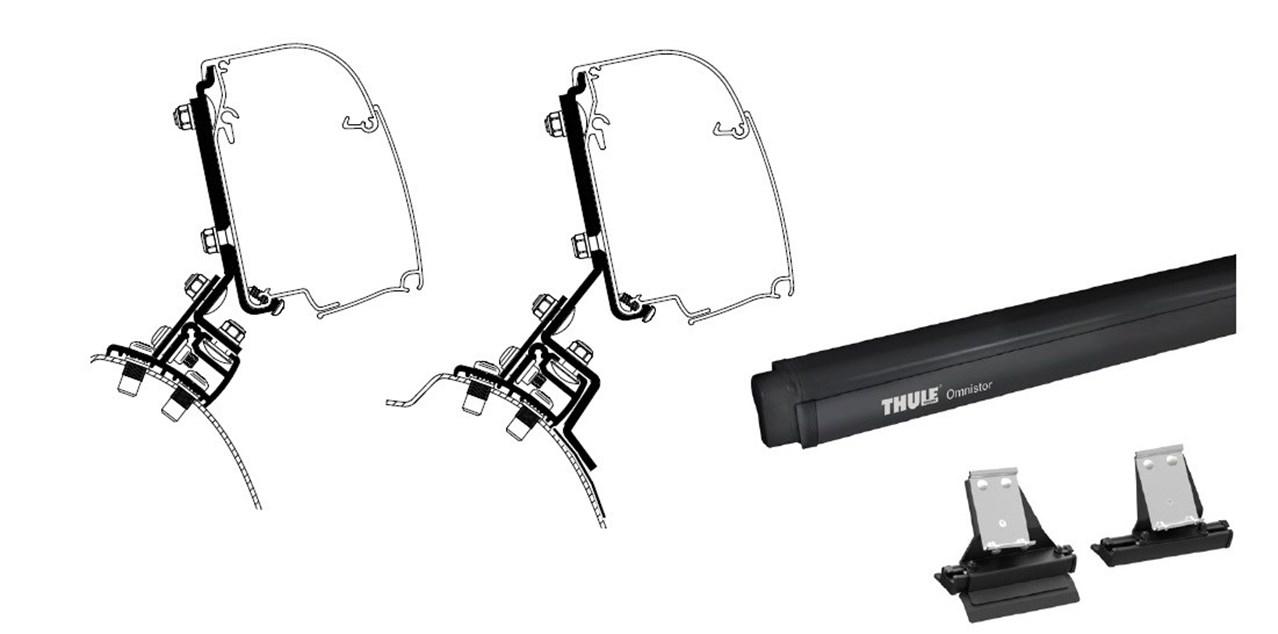 Toldo Thule 4900 260 BlackAdaptador PSA Traveller lona soportes