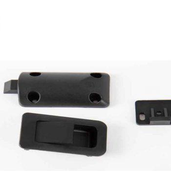 Cierre de puerta 36x59 mm negro contiene 52491