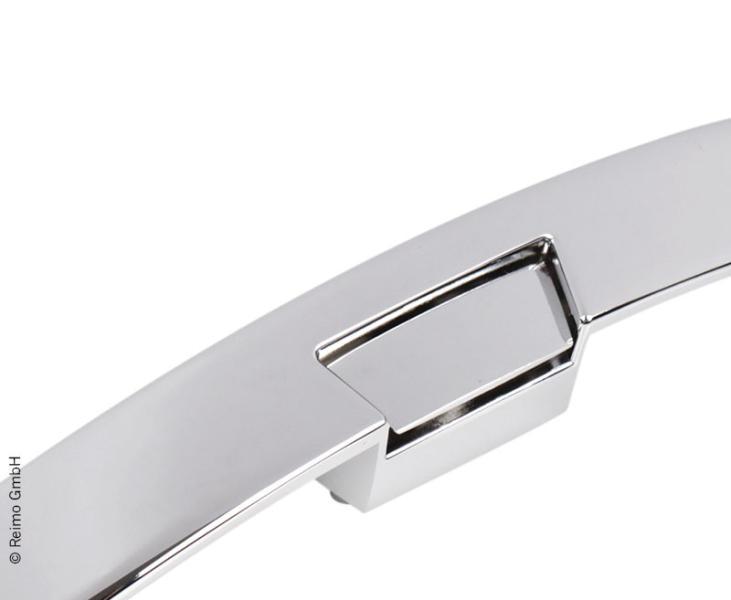 Tirador metal cierre mueble cromado 210x25 mm 53413