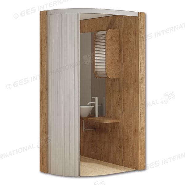 Puerta corredera baño autocaravana 200x120 cm abierta