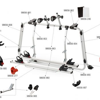 Estructura Portabicicletas Inferior Derderecho carrybike VWT5