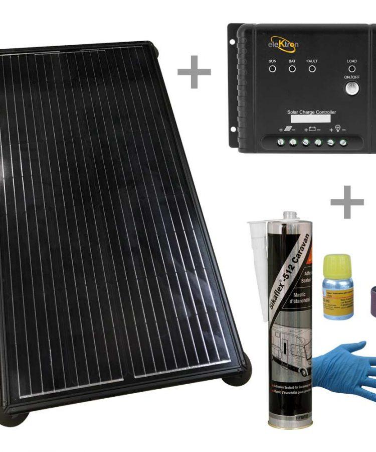 Kit Solar Wing 160W Regulador MPPT Adhesivo inovtech