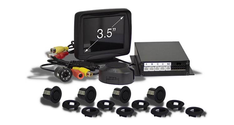 kit 4 sensores marcha atras con zumbador con salida de video 1