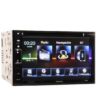 radio dvd doble din pantalla tactil usb navegador mirror link autocaravana furgoneta camper