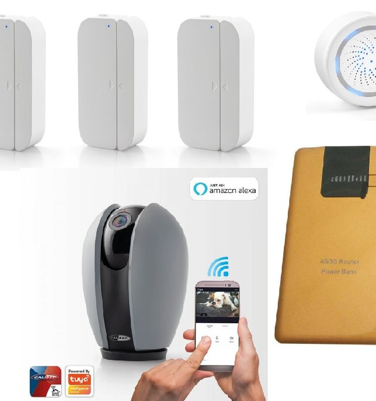 Kit Domotica Caliber Wifi AlarmaCámara Autocaravana
