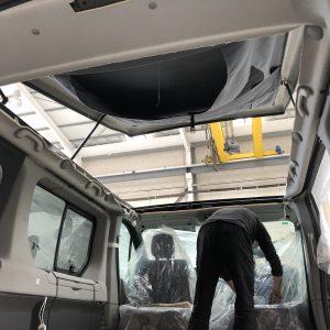 Instalacion techo elevable renault trafic