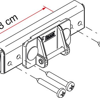 Kit instalacion portabicicletas Fiamma para autocaravana caravana Defhless antes 2010 Fiamma 98656 640