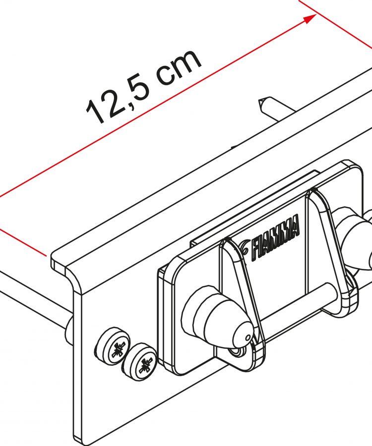 Kit instalacion portabicicletas Fiamma para autocaravana caravana Defhless desde 2016 Fiamma 98656M296