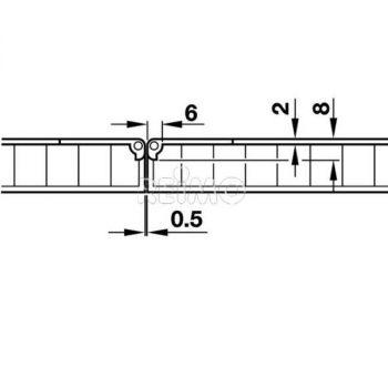 Bisagra plegable reforzada 65 x 30 2