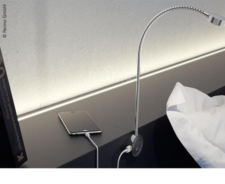 Lampara LED lectura con USB CARBEST 3