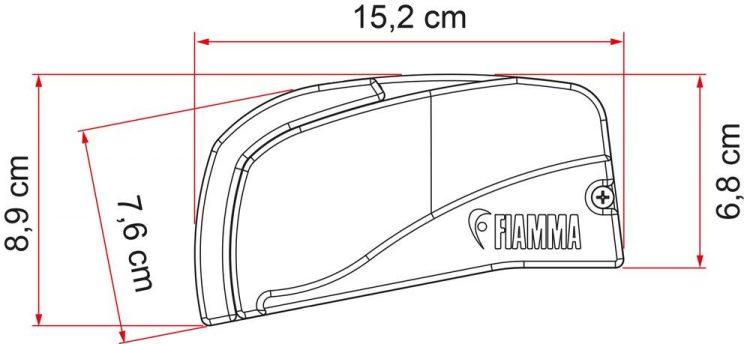 Toldo F40 Van 270 Deep Black Royal Grey FIAMMA 6